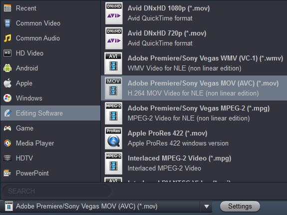 Import AVCHD to Adobe Premiere Pro