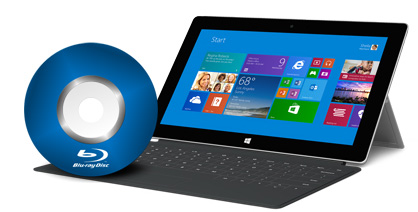 Watch Blu-ray disc on Surface 2