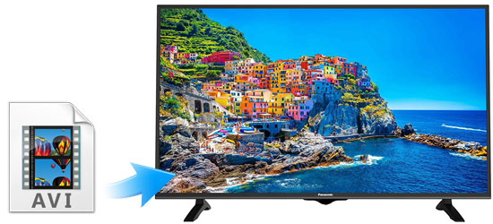Play AVI on Panasonic LED TV & 4K TV from USB