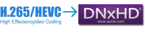 Convert H.265 to DNxHD via best H.265 Video Converter