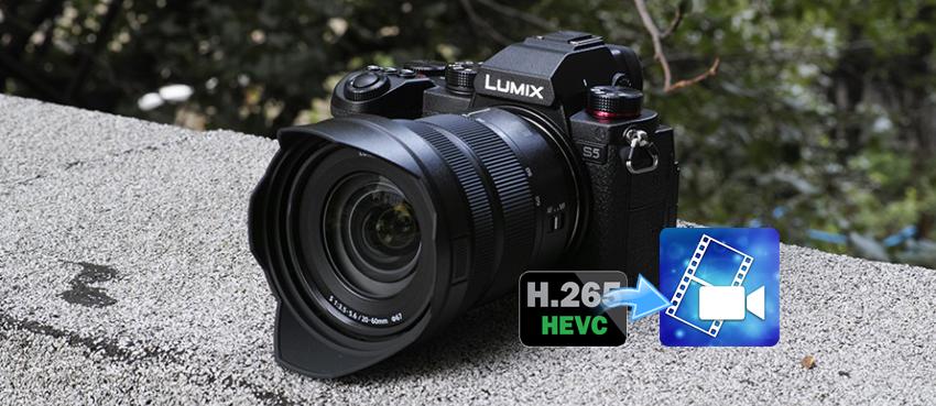Edit Lumix DC-S5 4K H.265 in PowerDirector