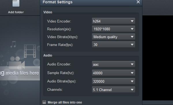 MP4 to DaVinci Resolve Converter - Settings