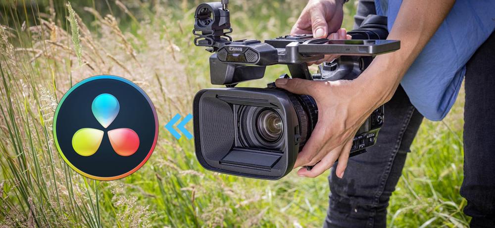 Import edit Canon XF605 MXF in DaVinci Resolve 17/16/15